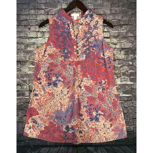 Chaps Size 12P  Paisley  Linen Shirt  EUC